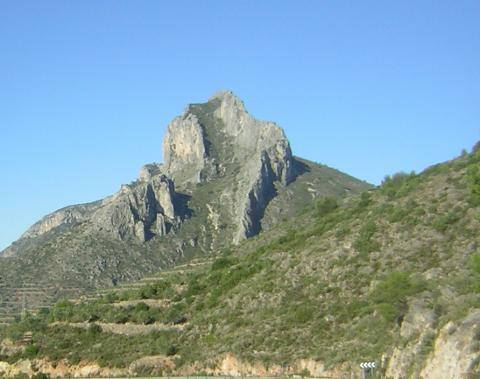 Vista del Benicadell tal i com el vaig vore la primera volta