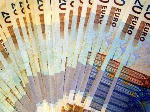 Feix de billets de vint euros