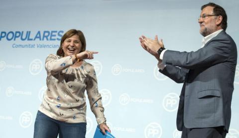 Rajoy en un acte del PP