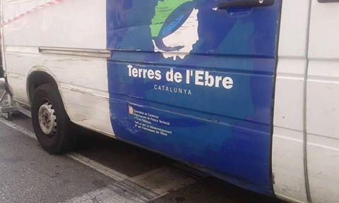 Foto furgona de la Generalitat catalana en terres valencianes