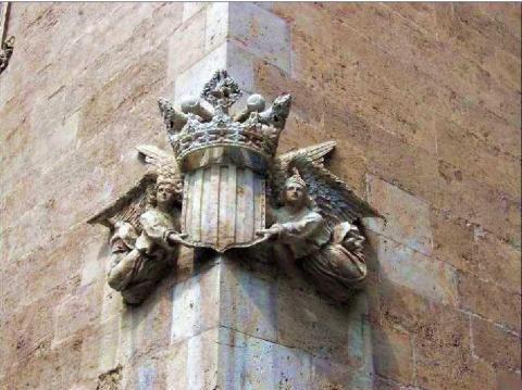 angels en el canto de la llonja, simbol de l'IEV
