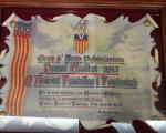 Placa en el premi