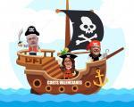 El tripartit en un barco pirata