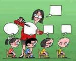 Caricatura de la manipulacio que fan alguns professors